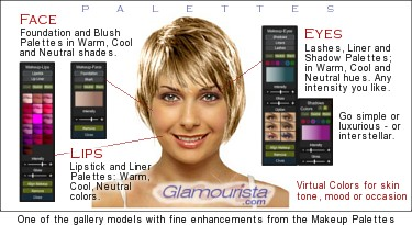 Virtual Makeover + Hairstyles Online -- Glamourista.com